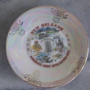 Vintage New Orleans Souvenir Lusterware Plate